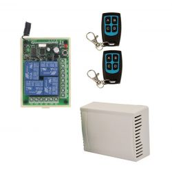 Remote control unit for 4 channels 433 Mhz with 2 remote controls Z971